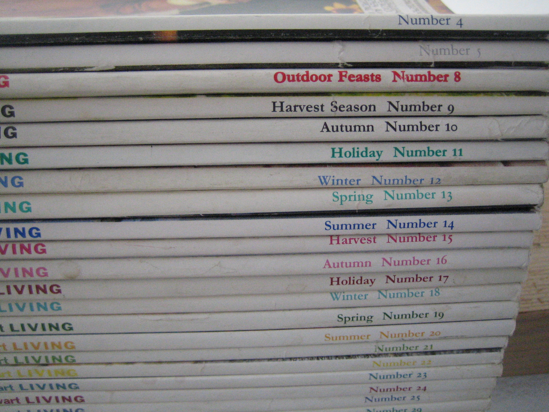 My oldest issues of Martha…